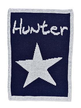 Metallic Single Star Monogram Name Blanket By Butterscotch Blankees