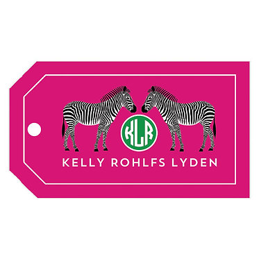 Zebra Hot Pink Gift Tags