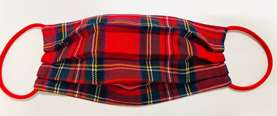 Tartan Red Face Mask - Multiple Sizes - Filter or Classic
