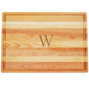 Monogram Custom Carved Wood Cutting Board Medium