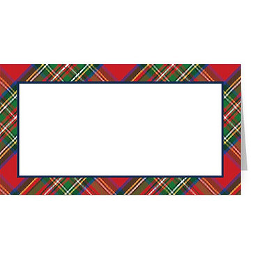 Tartan Fold Over Place Cards Set of 10