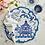 Thumbnail: HERRINGBONE NAPKIN IN WHITE, COBALT METALLIC, SET OF 4