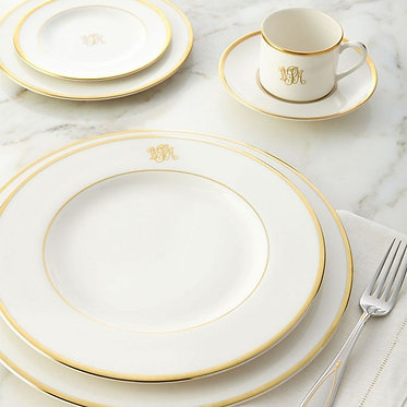 5 Piece Place Setting - Signature Monogram By Pickard