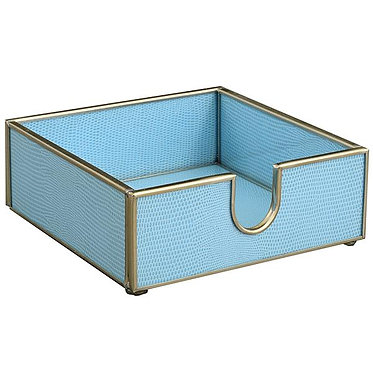 Blue Lizard Print Cocktail Napkin Holder