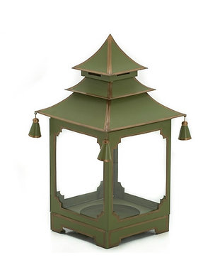 French Green and Gold Candle Pagoda (2 Sizes)