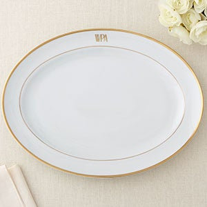 """Large Oval Platter 15 1/4"""" - Signature Monogram By Pickard"""