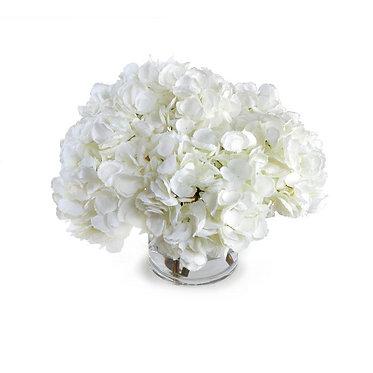 """11.5"""" Hydrangea Arrangement - White"""