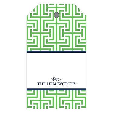 Garden Maze Green Gift Tags