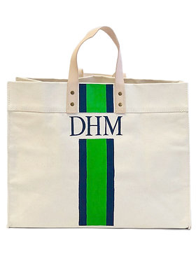 Hand Painted Monogram Canvas Tote