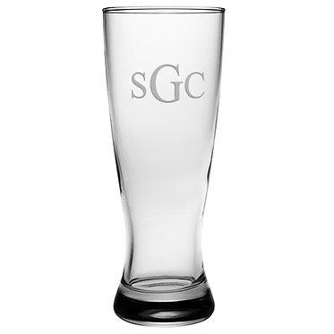 Monogrammed Grand Pilsner 20oz Glasses SET OF 4