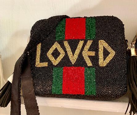 Custom Monogram Beaded Cross Body Bag