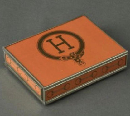 H Monogram Playing Card Storage Box With Two Decks of