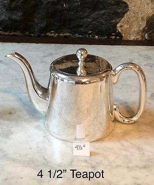 """HÔTEL Silver 4.5"""" Teapot"""