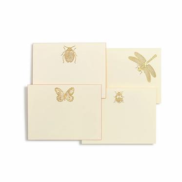 Bugs Assorted Gold Notecards | Set of 10 | Bernard Maisner
