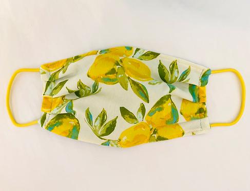 Amalfi Lemon Print Fabric Face Mask - Multiple Sizes - Filter or Classic Style