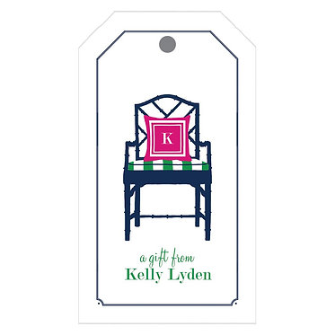Bamboo Blue Chair Gift Tags