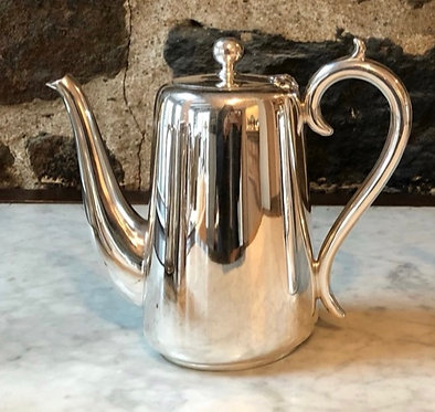 "HÔTEL Silver 6.5"" Vintage Coffee Pot (2 Pints) - Flared Handle - Hotel Silver"