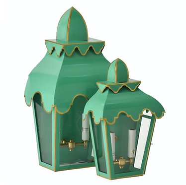 Small Pagoda Wall Sconce Pair