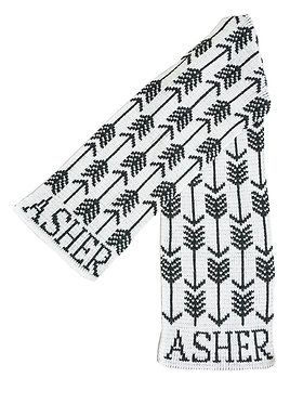 Butterscotch Blankees Arrows & Arrows Name Scarf