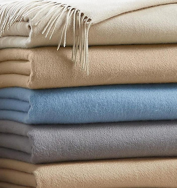 SFERRA Dorsey Cashmere Throw Blanket - Monogramming Optional