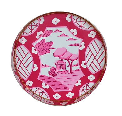 Canton in Pink Small Round Tray