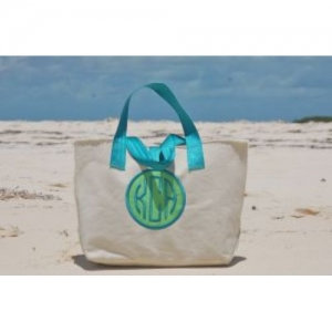 COLE Medium Tote with Dot Applique and Embroidered Monogram
