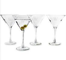 Monogrammed Martini Glasses 7.25oz SET OF 4