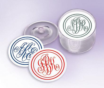 Custom Monogram Party Coasters
