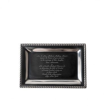 Infinity Vanity Tray With Wedding Invitation or Monogram
