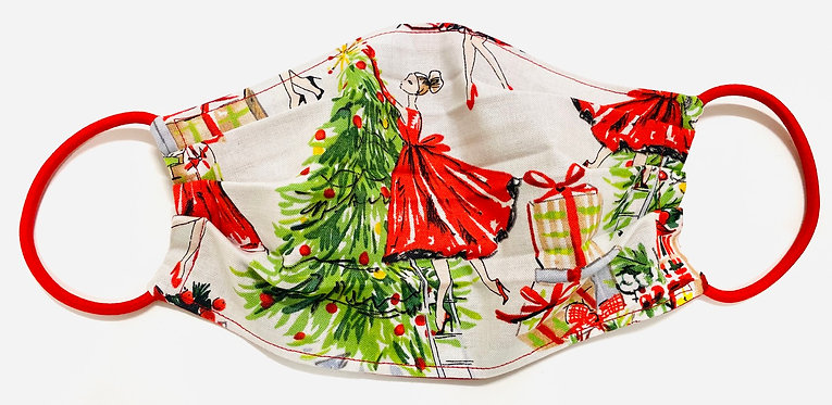 Chic Christmas Face Mask - Multiple Sizes - Filter or Classic