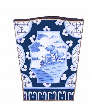 Canton in Blue - Tissue and Waste Basket Set