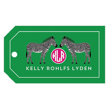 Zebra Green Gift Tags