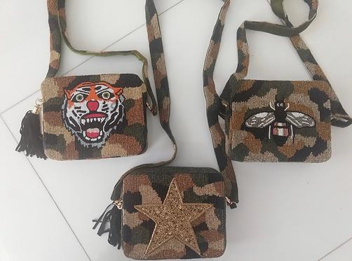 Custom beaded Cross Body Bags