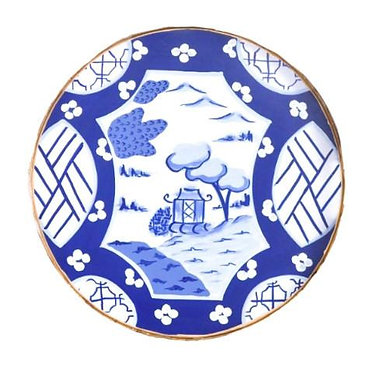 Canton in Blue Small Round Tray