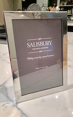 """copy of Engraved Pewter Monogrammed Classic 5""""x7""""Picture Frame"""