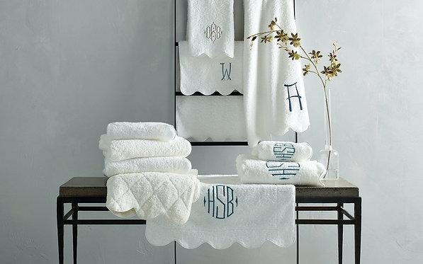 MATOUK Cairo Scallop Bath Towel - Monogramming Optional