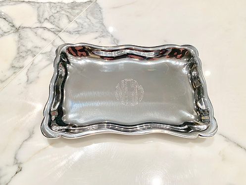 Engraved Monogrammed Extra Small Chippendale Tray