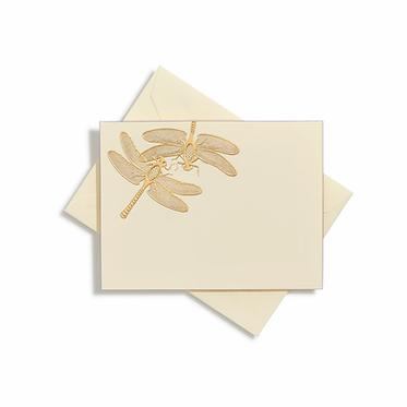 Dragonfly Gold Notecards | Set of 10 | Bernard Maisner