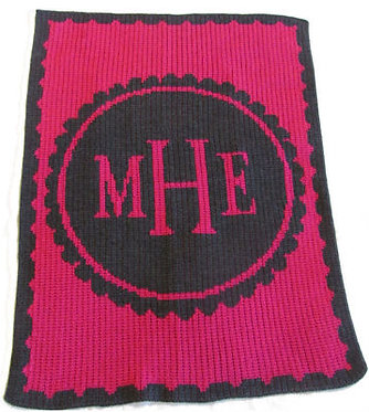 Scalloped Monogram Blanket By Butterscotch Blankees