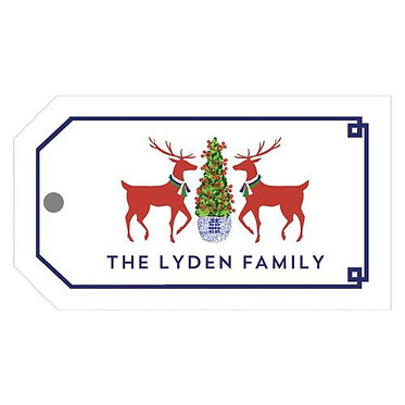 Reindeer Boxwood Gift Tags