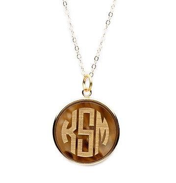 Vineyard Monogram Round Necklace