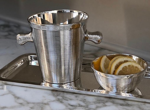 HÔTEL Silver - Private Label Collection - Ribbed Ice Pail Wine Cooler
