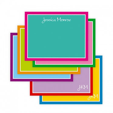 Colorful Correspondence Flat Notecards