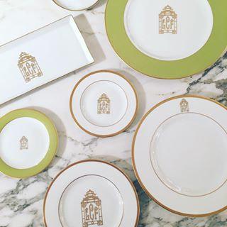 """Signature Monogram Dinner Plate 10 5/8"""""""