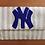 "Thumbnail: Custom Monogram Large Bead Flap Clutch Handbag 7""x10"" New York Yankees Inspired"