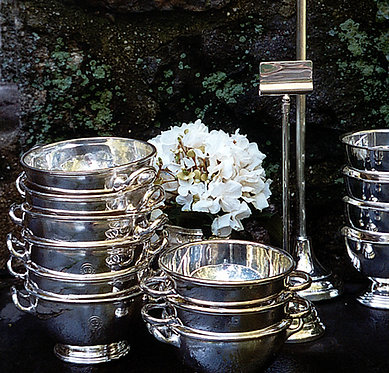 """HÔTEL Silver Two Handle 2"""" Bowl Made Famous by Barefoot Contessa"""