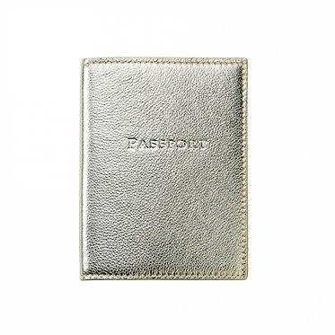 Graphic Image Leather Metallic Monogrammed Passport Cover Bright Colors