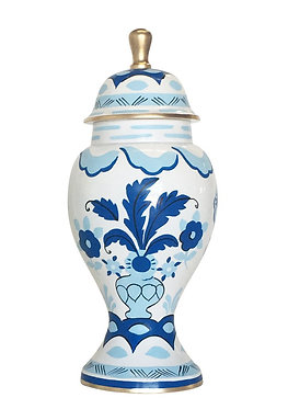 Sullivan Blue Ginger Jar