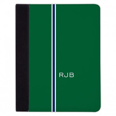 Boatman Geller Racing Stripe Hunter & Navy iPad Mini or iPad