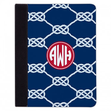 Boatman Geller Nautical Knot Navy iPad Mini or iPad
